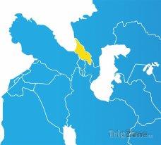 Poloha Gruzie na mapě Asie