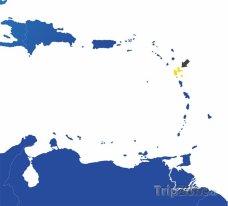 Poloha Guadelope na mapě Severní Ameriky
