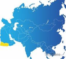 Poloha Jemenu na mapě Asie