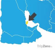 Poloha Kataru na mapě Asie