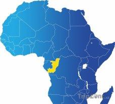 Poloha Konga na mapě Afriky