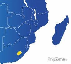 Poloha Lesotha na mapě Afriky