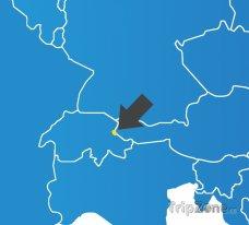 Poloha Lichtenštejnska na mapě Evropy