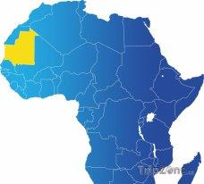 Poloha Maurtitánie na mapě Afriky