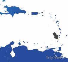 Poloha Svatého Vincenta a Grenadín na mapě Severní Ameriky