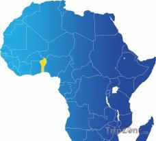 Poloha Toga na mapě Afriky