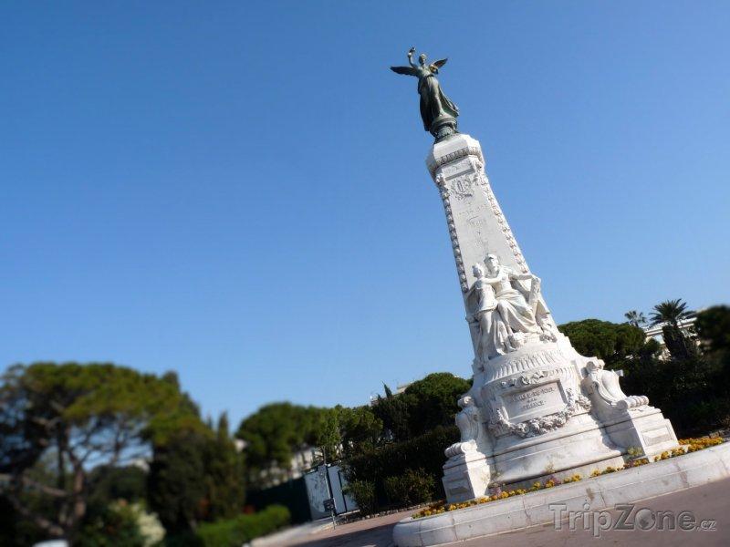 Fotka, Foto Pomník na Anglické promenádě (Nice, Francie)