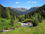 Řeka v horském údolí