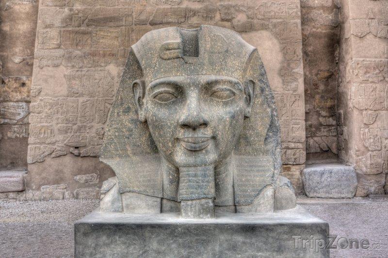 Fotka, Foto Socha Ramesse II. (Luxor, Egypt)