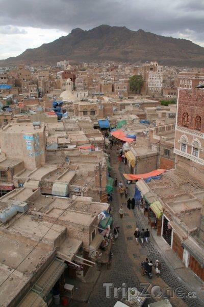Fotka, Foto Stará část města Sanaa (Jemen)