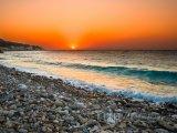 Středozemní moře při západu slunce