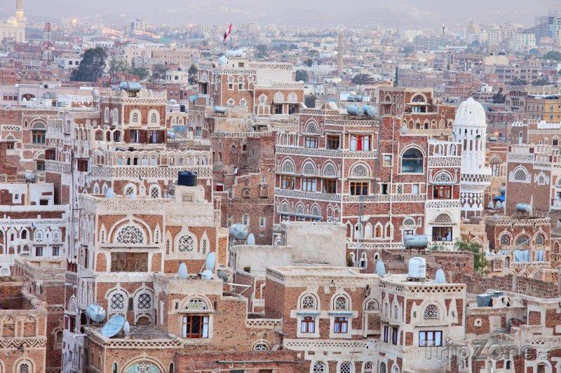 Fotka, Foto Tradiční architektura ve městě Sanaa (Jemen)