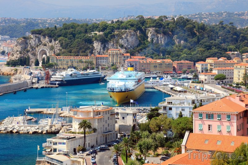 Fotka, Foto Výletní loď v přístavu (Nice, Francie)