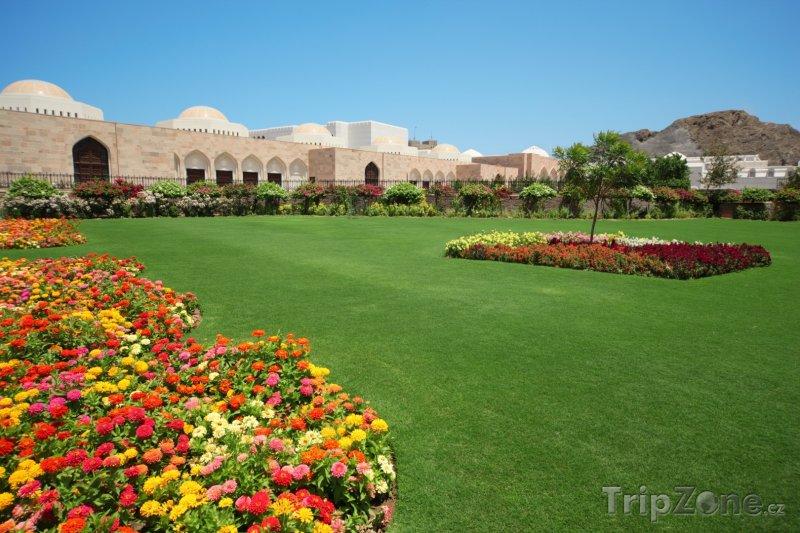Fotka, Foto Zahrada uvnitř sultánova paláce (Omán)