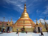 Botatungova pagoda v Rangúnu