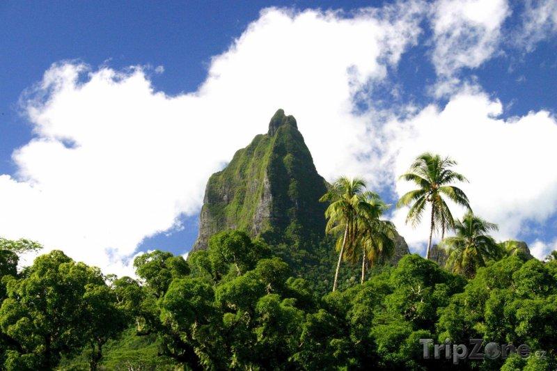 Fotka, Foto Hora Mouaroa na ostrově Moorea (Francouzská Polynésie)