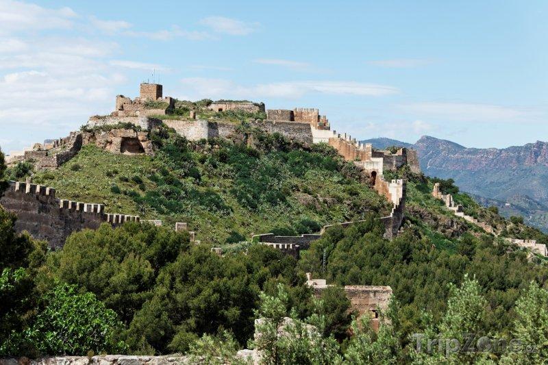 Fotka, Foto Hrad ve městě Sagunto (Španělsko)