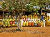 Hrnčířský trh u města Accra