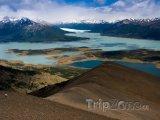 Jezero La Roca v parku Los Glacieres