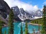 Jezero Moraine v národním parku Banff