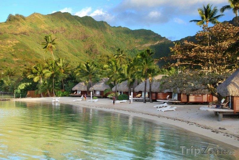 Fotka, Foto Laguna na ostrově Moorea (Francouzská Polynésie)