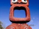 Maorský totem u města Rotorua
