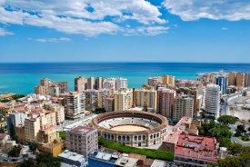 Město Málaga panorama