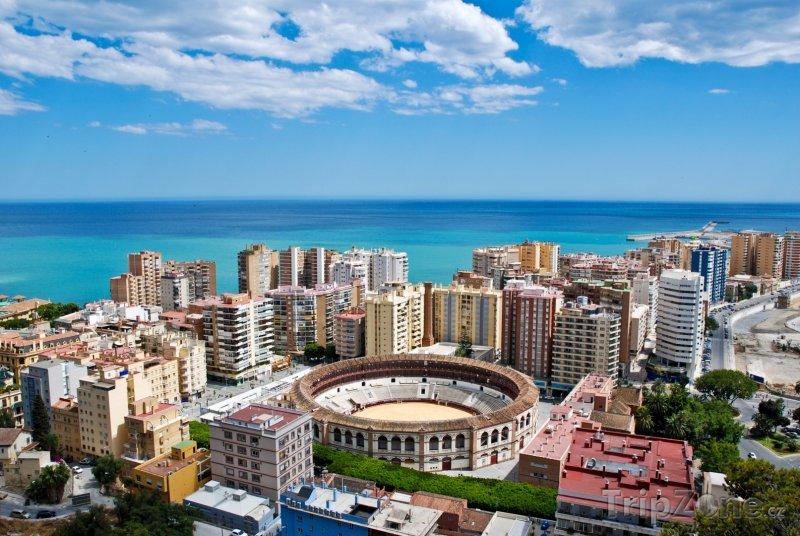 Fotka, Foto Město Málaga panorama (Španělsko)