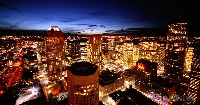 Fotka, Foto Noční Calgary (Kanada)