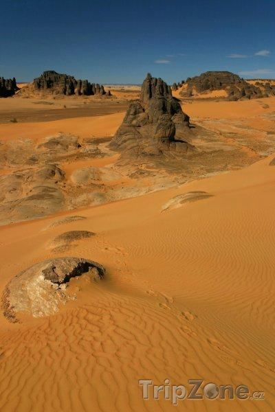 Fotka, Foto Panorama pohoří Ahaggar (Alžírsko)