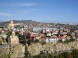 Pohled na historické centrum Tbilisi