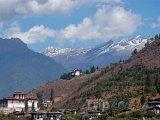 Pohled na klášter Rinpung Dzong