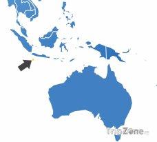 Poloha Vánočního ostrova na mapě