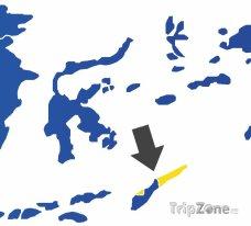 Poloha Východního Timoru na mapě Asie