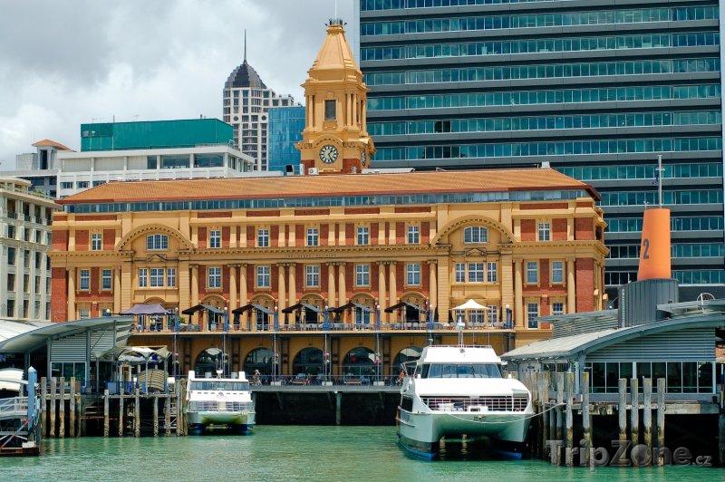 Fotka, Foto Přístav ve městě Auckland (Nový Zéland)