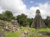 Pyramida v mayském chrámu Tikal