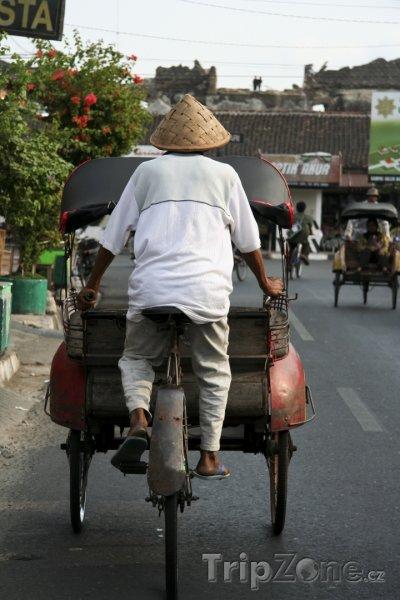 Fotka, Foto Rikša v Yogyakartě (Indonésie)