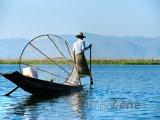 Rybář na jezeru Inle