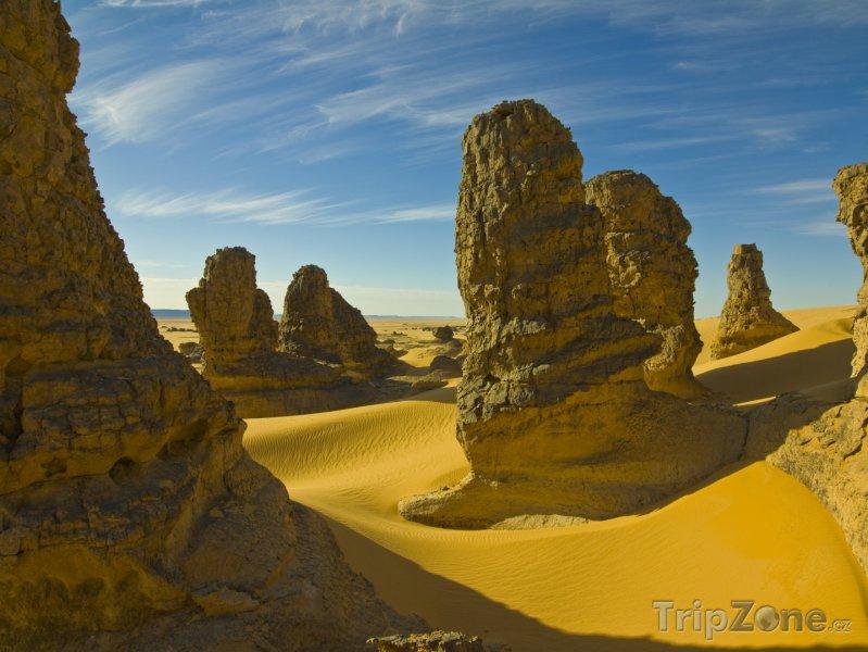 Fotka, Foto Skalní útvary na Sahaře (Alžírsko)