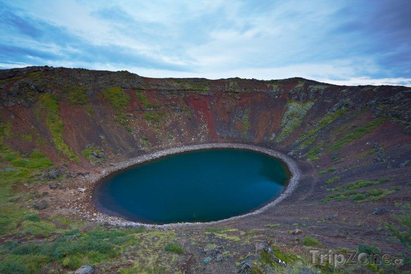 Fotka, Foto Sopečné jezero Kerið (Island)