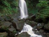 Trafalgar falls v Národní parku Morne Trois Pitons