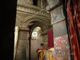 Vnitřek kostela Bete Maryam ve vesnici Lalibela