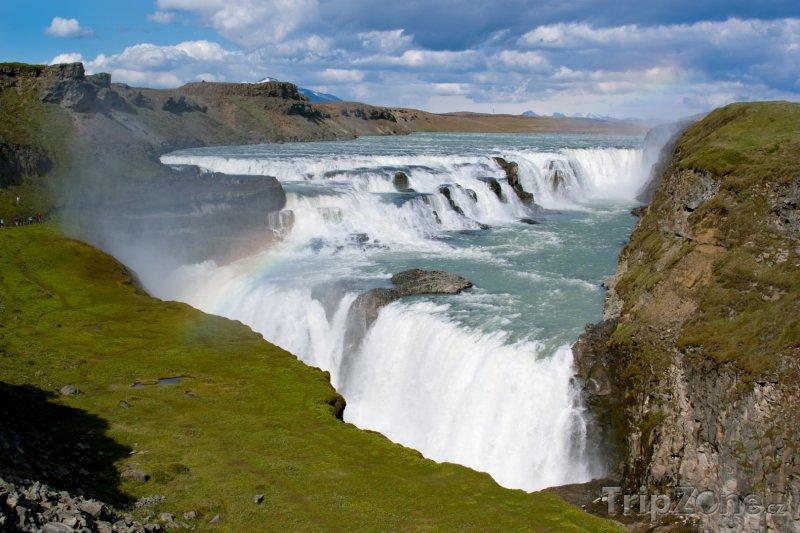 Fotka, Foto Vodopád Gullfoss (Island)