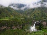 Vodopád poblíž města Baños