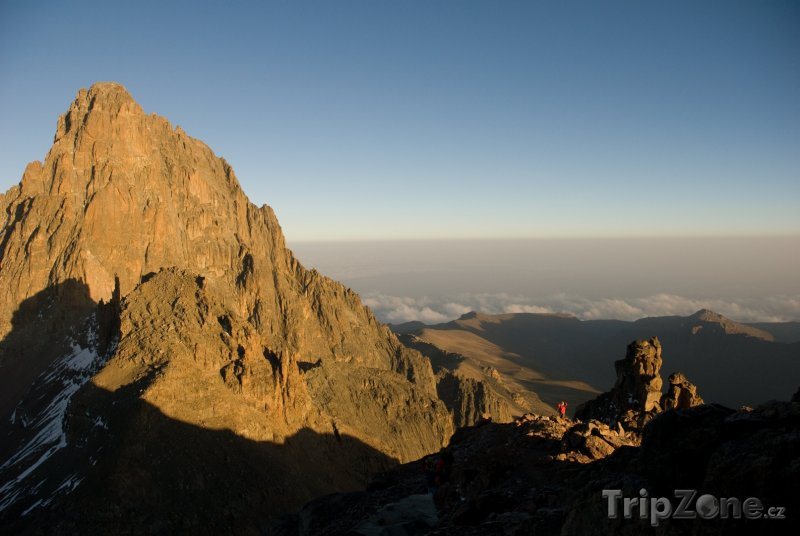 Fotka, Foto Vrchol masivu Mount Kenya (Keňa)