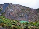 Vulkán Irazú u města San José