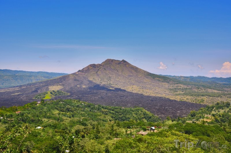 Fotka, Foto Vulkán Mount Batur na Bali (Indonésie)