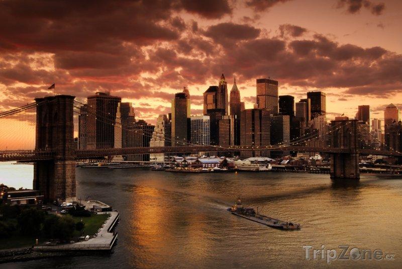 Fotka, Foto Západ slunce nad New Yorkem (USA)