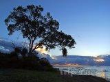 Západ slunce nad řekou Kwando