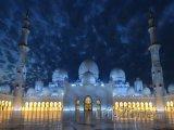 Abú Dahbí, mešita Sheikh Zayed v noci